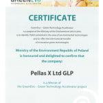 Certyfikat greenevo 2015 dls Pellas X