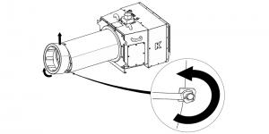 zdejmowany dyfuzor do czyszczenia palnika peletowego
