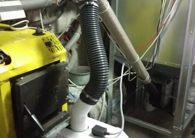 Kocioł śmieciowy z palnikiem na pelet