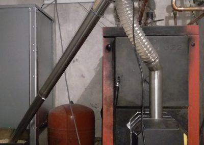 Kocioł Viadrus z palnikiem na pellet