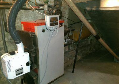 Kocioł węglowy heiztechnik z palnikiem pelletowym Kostrzewa pod Bydsgoszczą